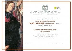 Invito premio Isabella Morra 2015