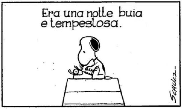 Snoopy-era-una-notte-buia-e-tempestosa